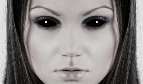Crianças com Olhos Negros  NÃO ÀS DEIXE ENTRAR! bfe8376787